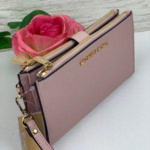 🌸Michael Kors DoubleZip Wallet Wristlet Blossom